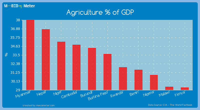 Agriculture % of GDP of Burkina Faso