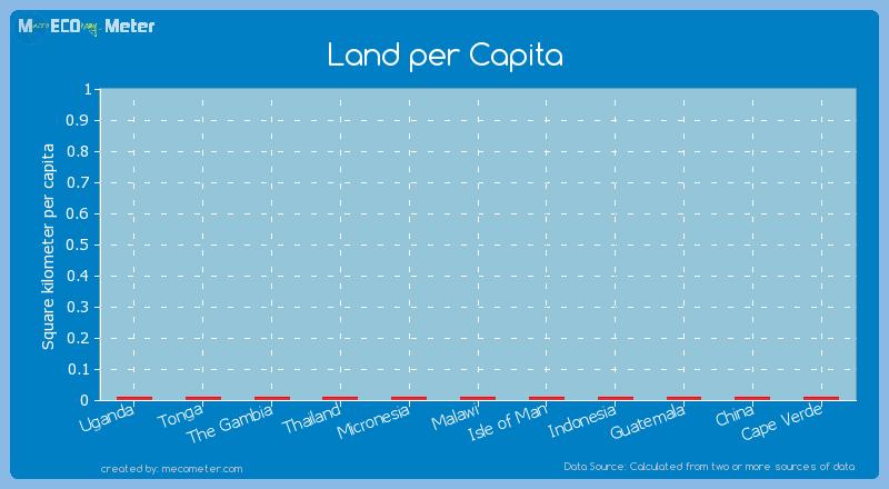 Land per Capita of China