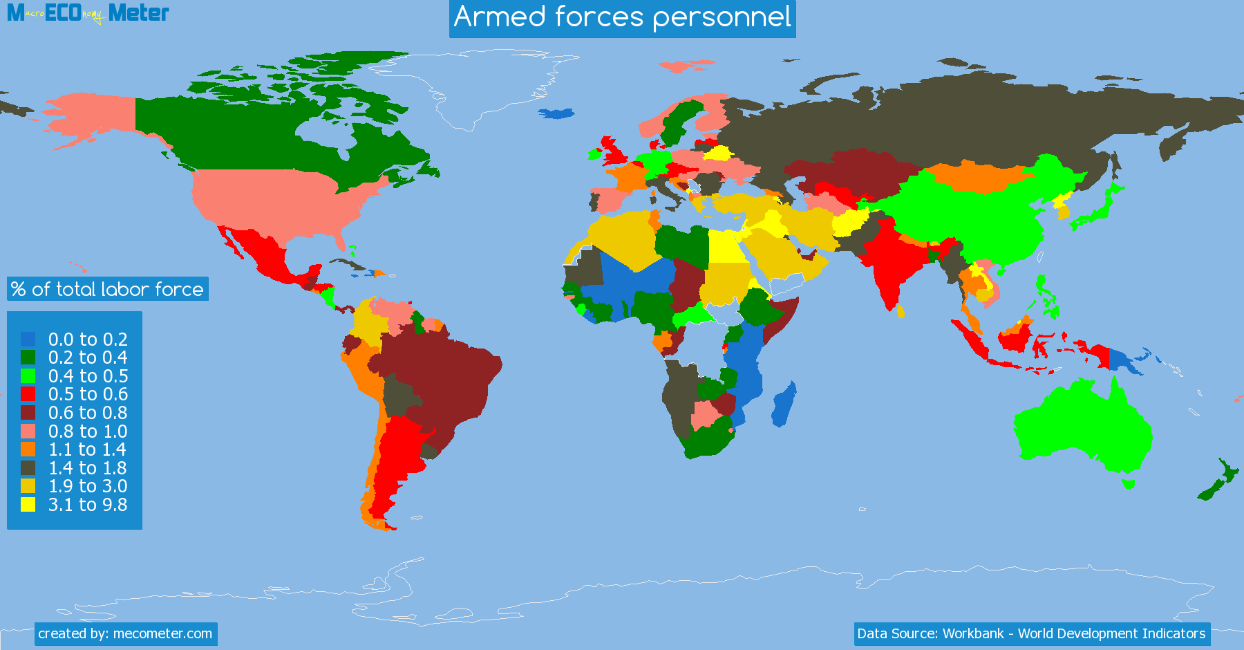 list of countries by Armed forces personnel