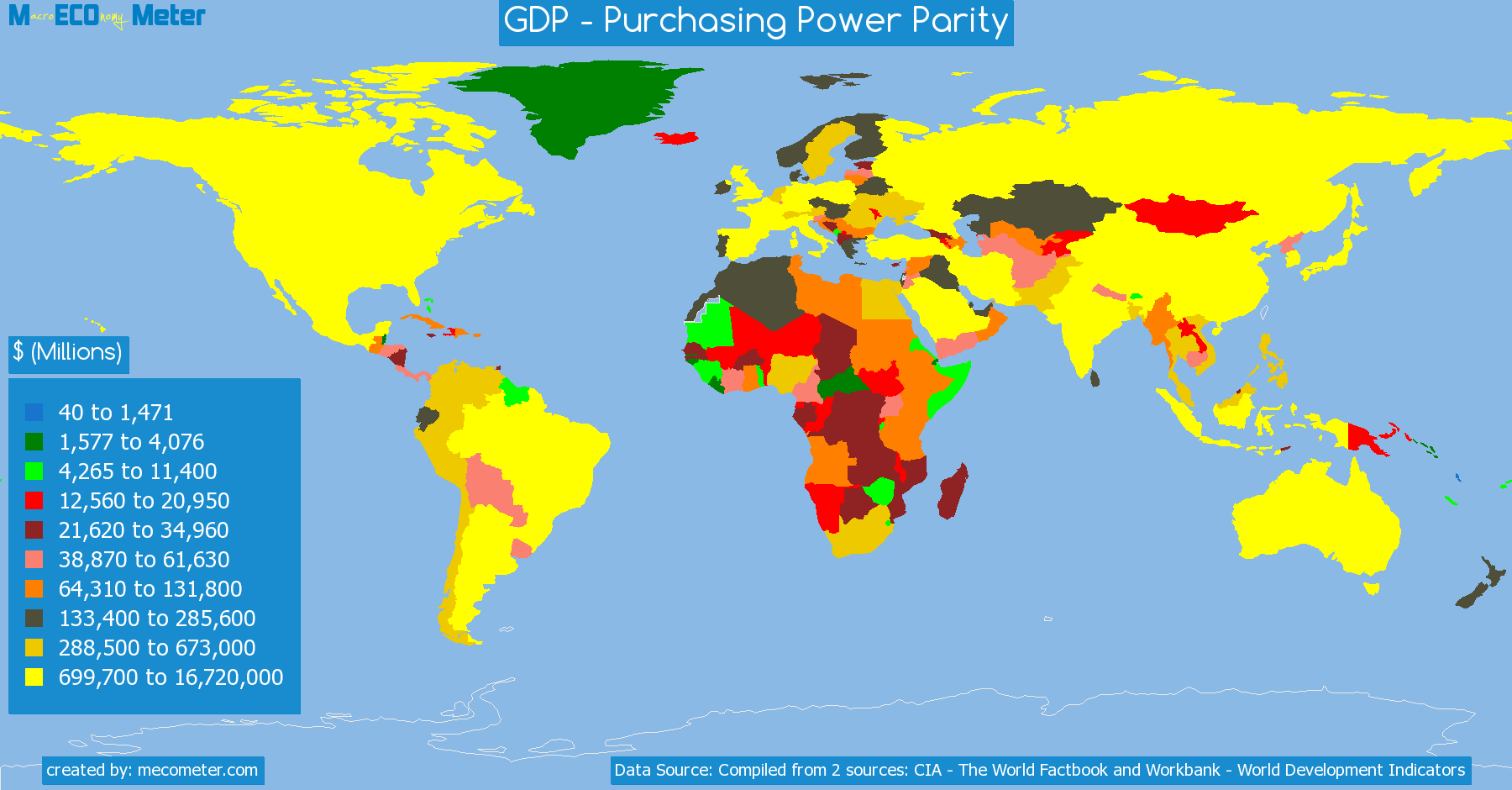 list of countries by GDP - Purchasing Power Parity