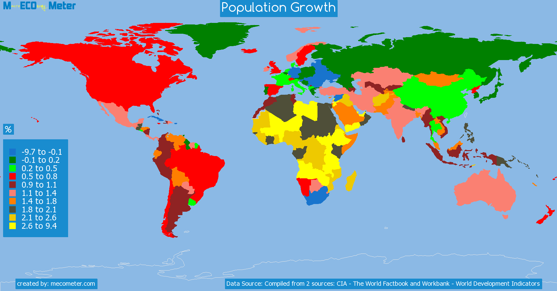list of countries by Population Growth